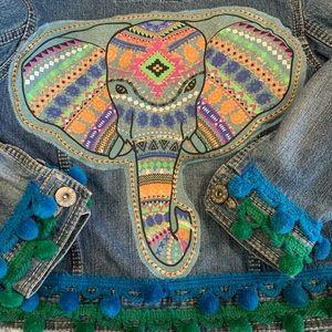 Handmade Festival ReFashion/Restyled Denim Jacket
